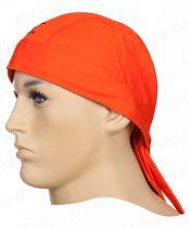 Hegesztő fejkendő Weldas 23-3613 égésálló narancssárga pamut