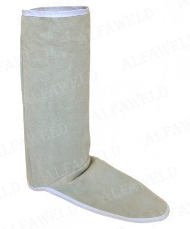 Hegesztő lábszárvédő marhabőr XY-9053 / 30cm fehér tépőzáras
