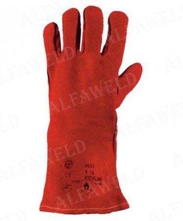 Hegesztőkesztyű 2633 Super kevlarral piros 10-es méret
