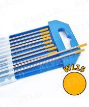 Wolfram elektróda WL15 arany - Ø 2.4 x 175 mm