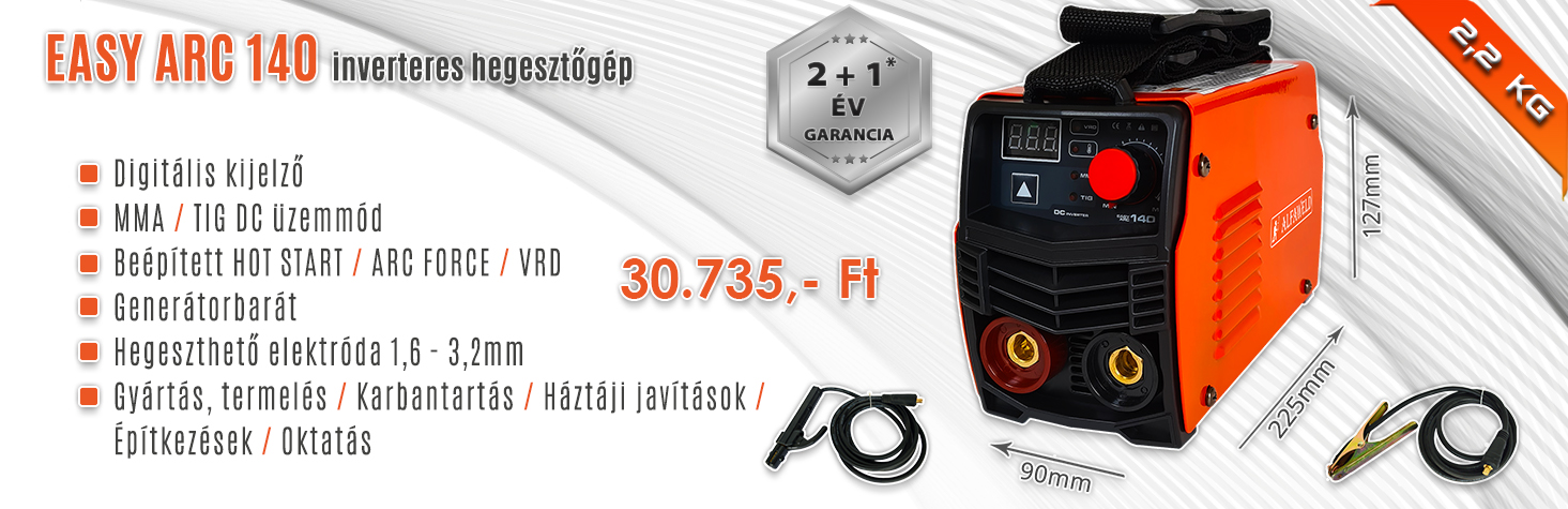 Easy ARC 140 és 160 inverteres hegesztőgép