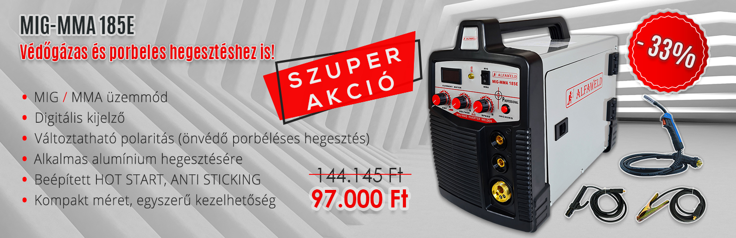 Black Friday Jasic MIG 180 inverteres hegesztőgép
